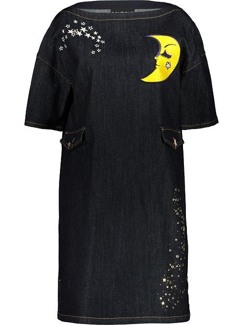 BOUTIQUE MOSCHINO Moon Denim Dress (RARE & COLLECTABLE)