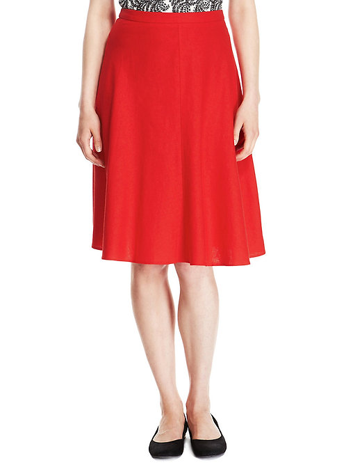 M&S Collection Panelled Knee Length A-Line Skirt T57/8308