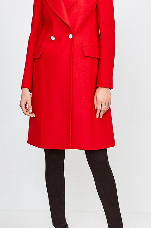 KAREN MILLEN Italian Wool Blend Double Breasted Coat (RARE & COLLECTABLE)