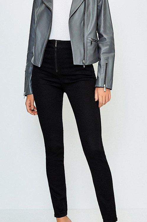 KAREN MILLEN Zip Front Button Detail Jean(RARE & COLLECTABLE)