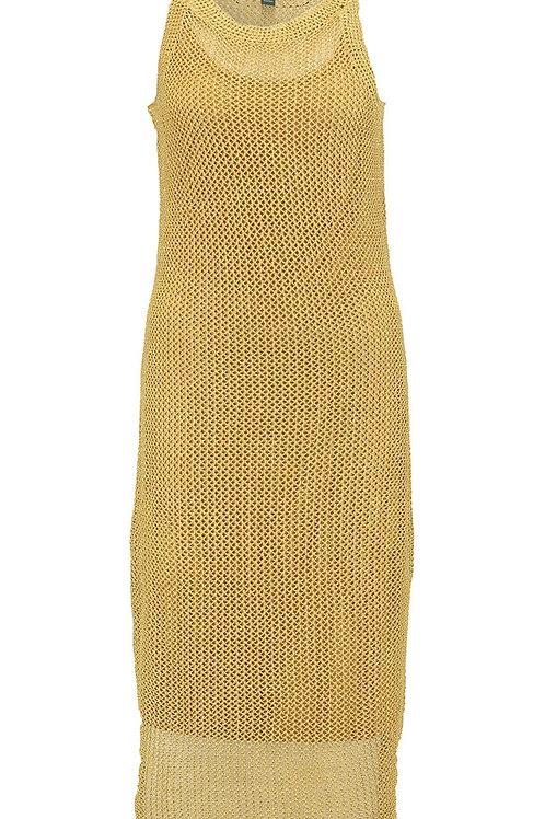 RALPH LAUREN Gold-Tone Linen/Lurex Crochet Lamiana Dress (RARE & COLLECTABLE)