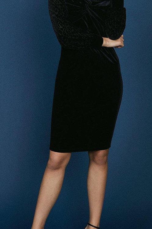 COAST Velvet Bardot Animal Sleeve Dress(RARE & COLLECTABLE)