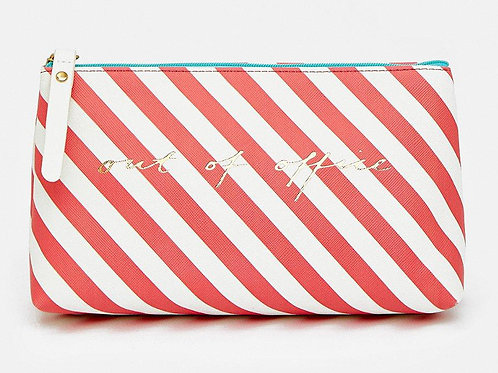 COAST Stripe Out Of Office Make Up Bag (RARE & COLLECTABLE)