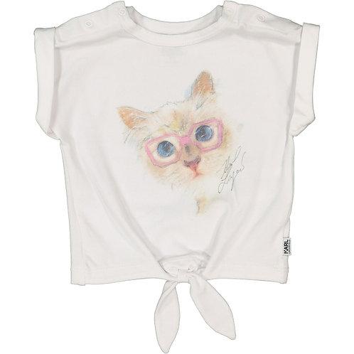 KARL LAGERFELDCat Print T-Shirt(RARE & COLLECTABLE)