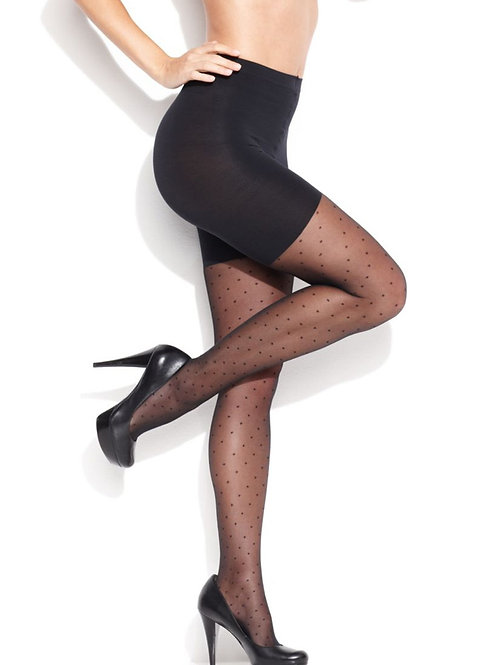 Star Power By SPANX Patterned Shaping Sheers Dots Tights