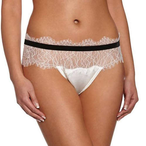 MIMI HOLLIDAY Coquette Silk and Floral Lace Knickers (RARE & COLLECTABLE)