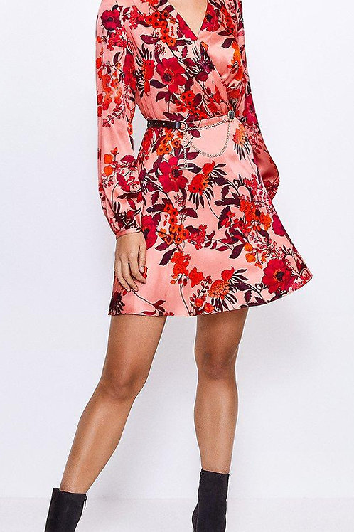 KAREN MILLEN Floral Printed Silk Front Wrap Dress(RARE & COLLECTABLE)