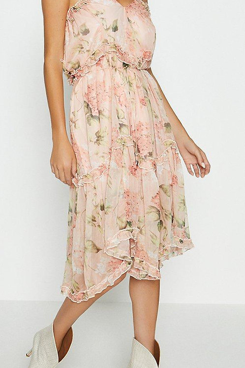 COAST Printed Tiered Midi Dress(RARE & COLLECTABLE)