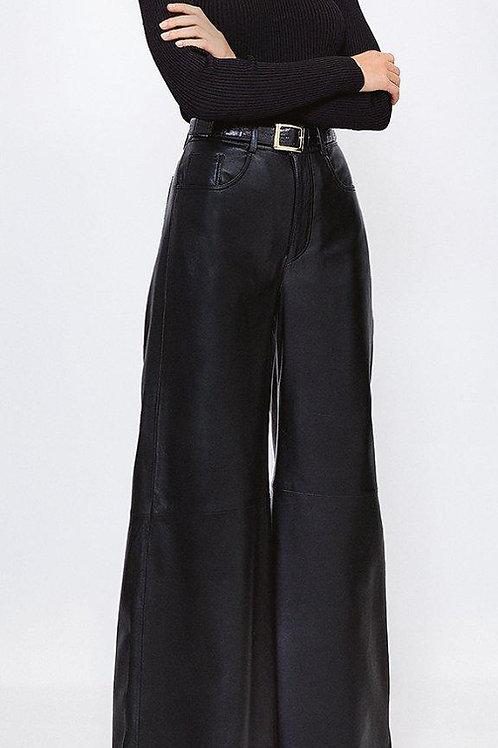 KAREN MILLEN Leather Wide Leg Trouser(RARE & COLLECTABLE)