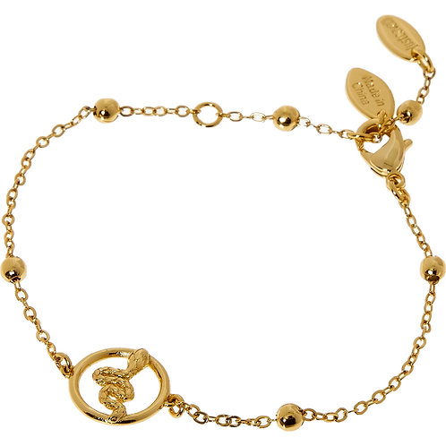JUST CAVALLI Gold Tone Ball Bracelet(RARE & COLLECTABLE)