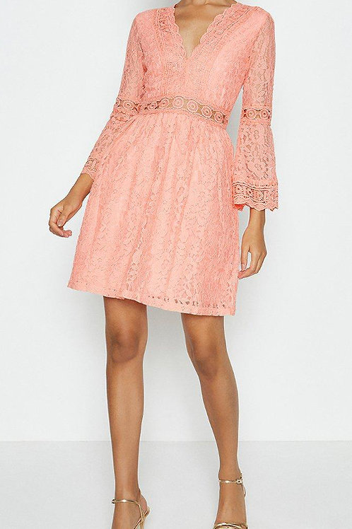 COAST 3/4 Lace Sleeve Short Swing Dress(RARE & COLLECTABLE)