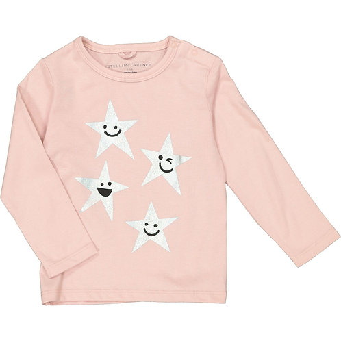 STELLA MCCARTNEY KIDS Long Sleeve Tee with Smiling Stars (RARE & COLLECTABLE)