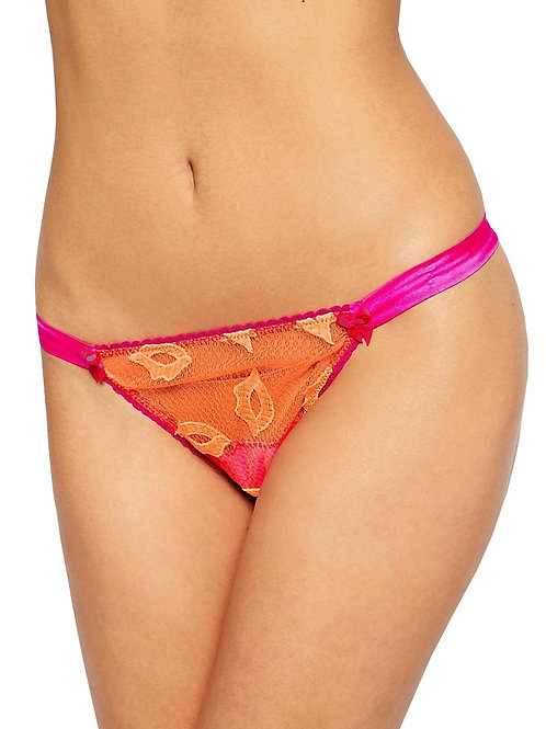 MIMI HOLLIDAY Kittiwake Lace and Silk Hipster Thong (RARE & COLLECTABLE)