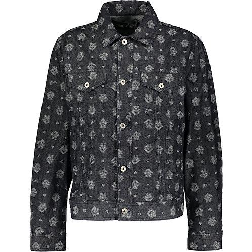 LOVE MOSCHINO Monogram Print Denim Jacket(RARE & COLLECTABLE)