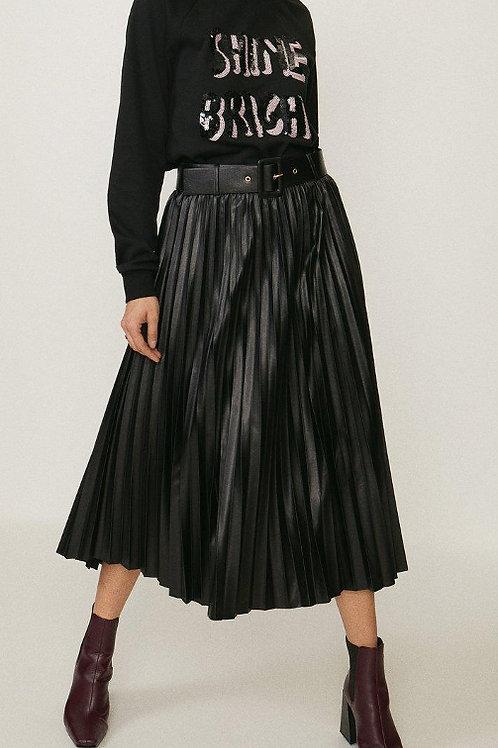 COAST PU Pleated Midi Skirt(RARE & COLLECTABLE)