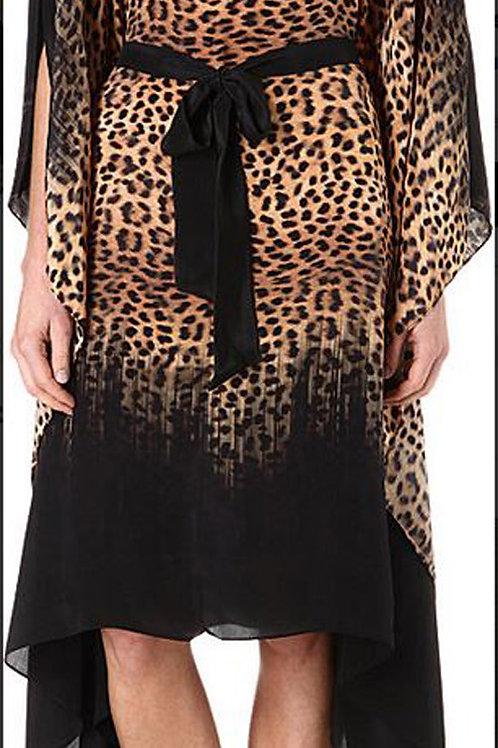 GOTTEX Bangalore Silk Leopard Print Kaftan Coverup 14BA-719R (RARE & COLLECTABLE