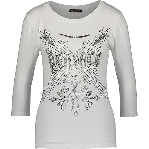 VERSACE COLLECTION Manica Intimo Donna Studded 3/4 Sleeve T-Shirt (RARE & COLL)