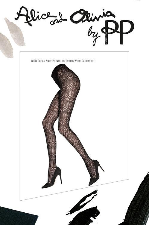 PRETTY POLLY Alice and Olivia 100D Super Soft Cashmere Mix Tights (RARE & COLL)