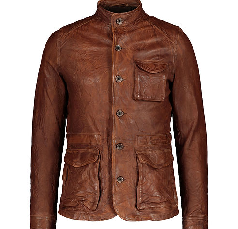 PEARLY KING Brown Leather Jacket.jpg