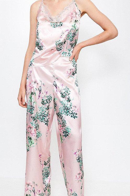 KAREN MILLEN Floral Print Satin PJ Pant(RARE & COLLECTABLE)