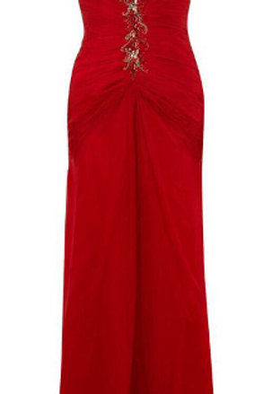 ALBERTO MAKALI Ruched Silk Shoulder Gown (RARE & COLLECTABLE)