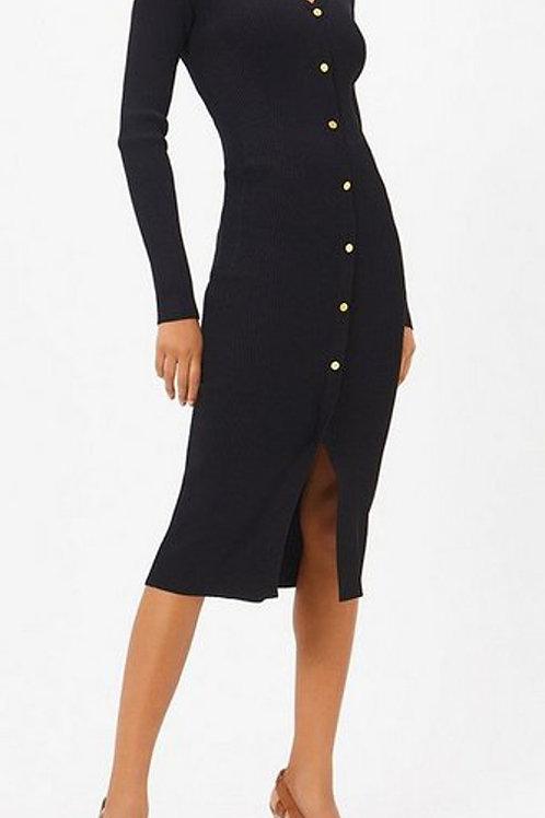 COAST Rib Knit Button Dress (RARE & COLLECTABLE)