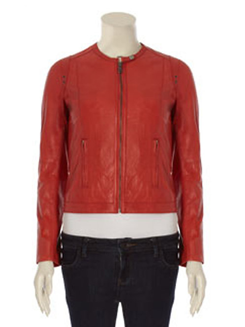 SIENNA DE LUCA Ladies Red Leather Jacket (RARE & COLLECTABLE)
