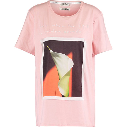 EACH X OTHER PARIS Silk Panel Pink T-Shirt SS17G11059 (RARE & COLLECTABLE)