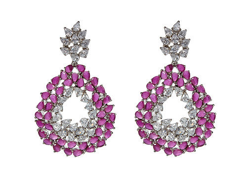 AMISHI LONDON Crystals Dafni Luxury Statement Drop Earrings (RARE & COLLECTABLE)