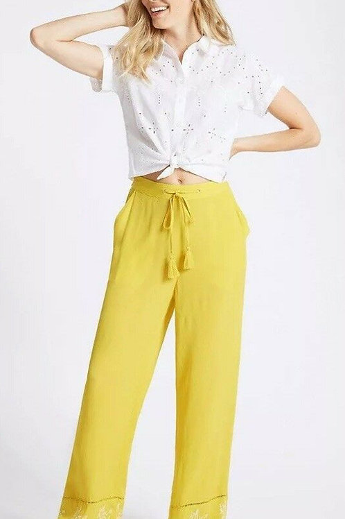 M&S COLLECTION Mid Rise Wide Leg Embroidered Hem Flared Trouser T57/7115 (R&C)