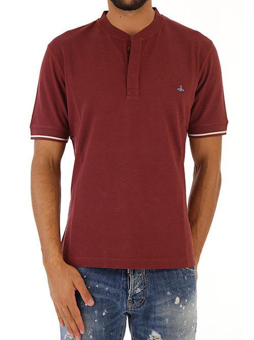 VIVIENNE WESTWOOD Grandad Style Collarless Polo Shirt S25GC0358 (RARE & COLL)
