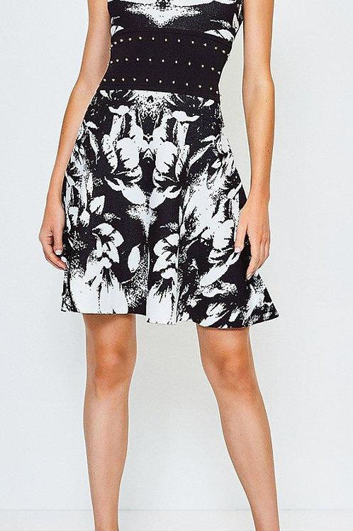 KAREN MILLEN Floral Jacquard Knitted Dress(RARE & COLLECTABLE)