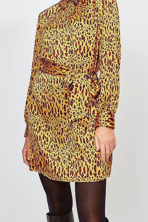 KAREN MILLEN Silk Tie Waist Shirt Dress (RARE & COLLECTABLE)