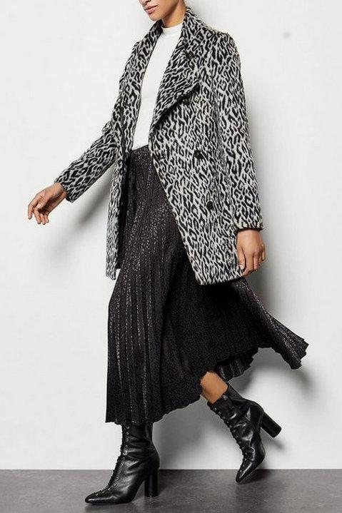 KAREN MILLEN Leopard Wrap Coat (RARE & COLLECTABLE)