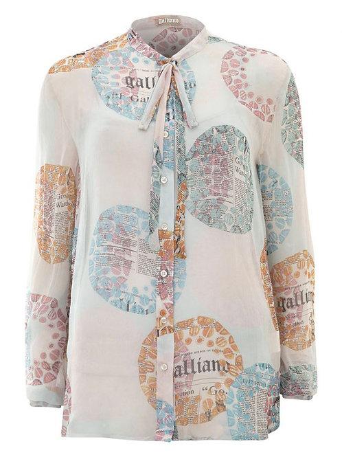 GALLIANO Multi-Coloured Italian Silk Shirt (RARE & COLLECTABLE)