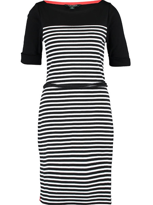 LAUREN RALPH LAUREN Striped Jersey Dress (RARE & COLLECTABLE)