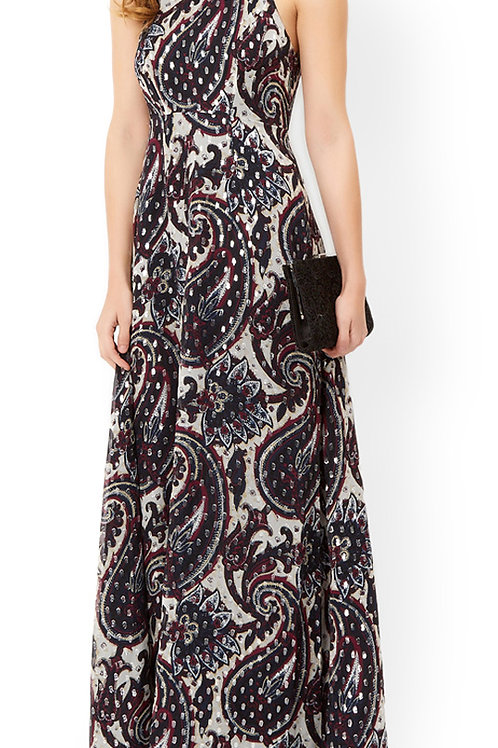 MONSOON Silk Mix Piper Priority Maxi Dress (RARE & COLLECTABLE)
