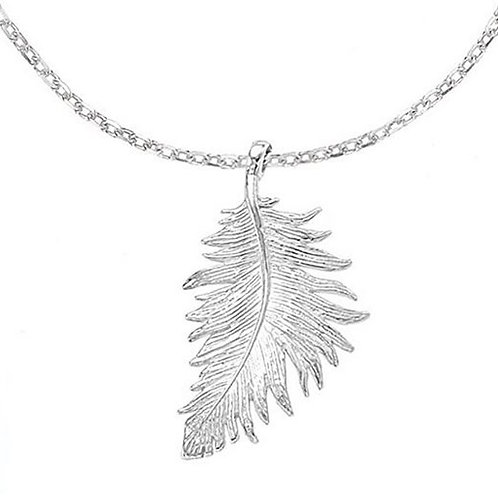 DOWER & HALL Feather Pendant on Trace Chain (RARE & COLLECTABLE)