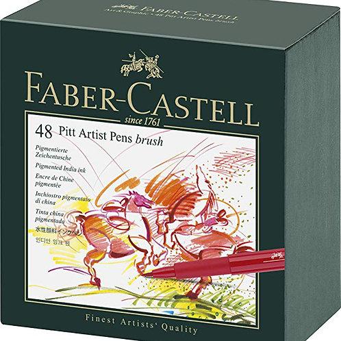 FABER-CASTELL Pitt Artist Pen Gift Box of 48 Colours