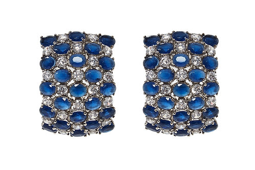 AMISHI LONDON Crystals Square Earrings (RARE & COLLECTABLE)