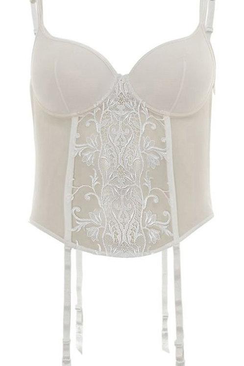 WOLFORD Ivory Embroidered Lace Corset