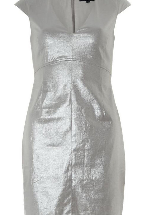 FRENCH CONNECTION Silver Shimmer Shift Dress (RARE & COLLECTABLE)