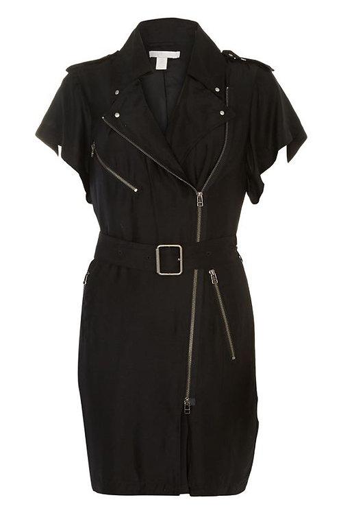 ADIDAS SLVR Black Zip Kimono Dress