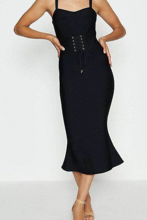 COAST Corset Detail Bandage Midi Dress(RARE & COLLECTABLE)
