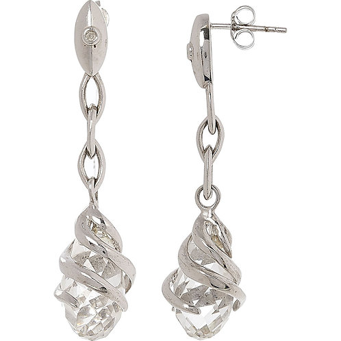 HOT DIAMONDS Sterling Silver Drop Earrings (RARE & COLLECTABLE)