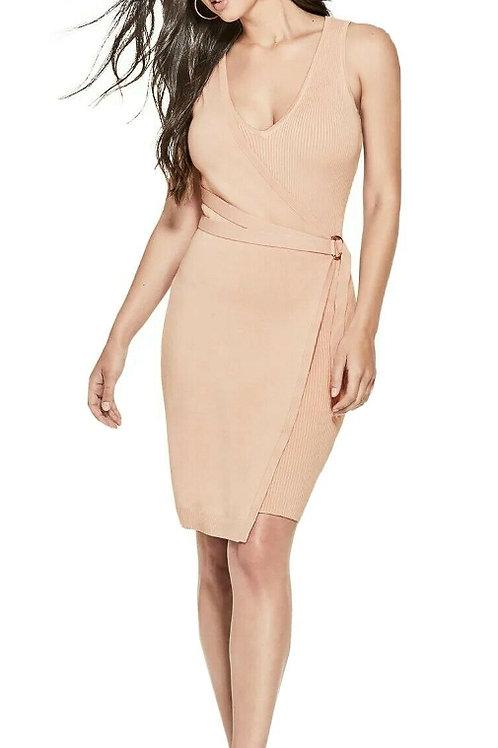 GUESS Allison Faux-Wrap Bodycon Dress (RARE & COLLECTABLE)