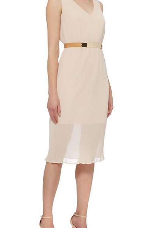 PIED A TERRE DRS SL Pleated Chiffon Dress (RARE & COLLECTABLE)