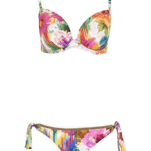 MARYAN MEHLHORN Multi Watercolour Floral Bikini Set (RARE & COLLECTABLE)