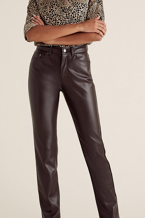 M&S COLLECTION Sienna Faux Leather Straight Leg Trousers T57/5078