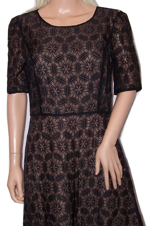 NEXT Back Zipped Organza Lace Designed Dress (RARE & COLLECTABLE)